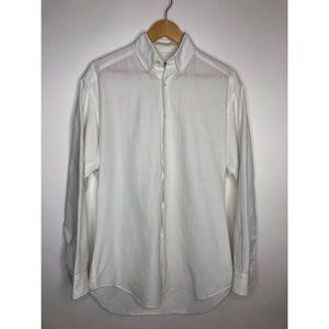 Giorgio Armani White Casual Dress Shirt - small